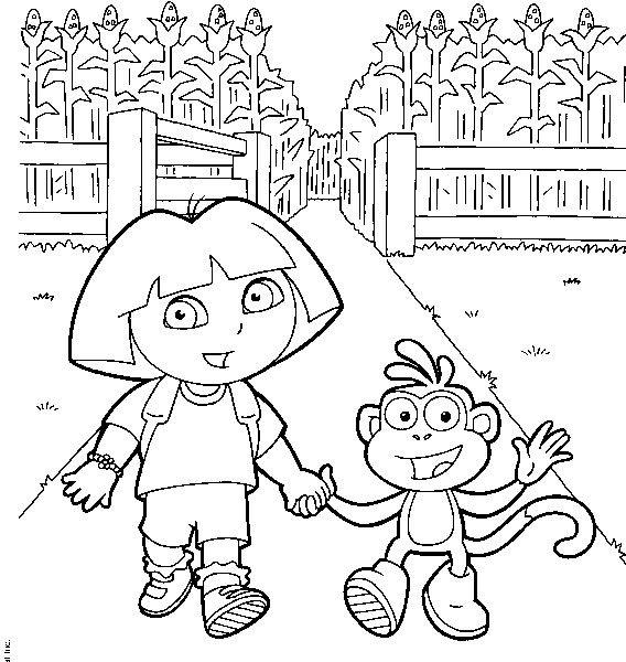 Coloriage de dora 09 - Dessin anime dora exploratrice gratuit ...