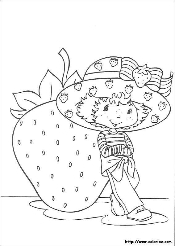 08 coloriages de charlotte aux fraises - Dessin charlotte aux fraises ...
